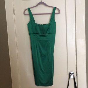 Green Calvin Klein Cocktail Sheath dress